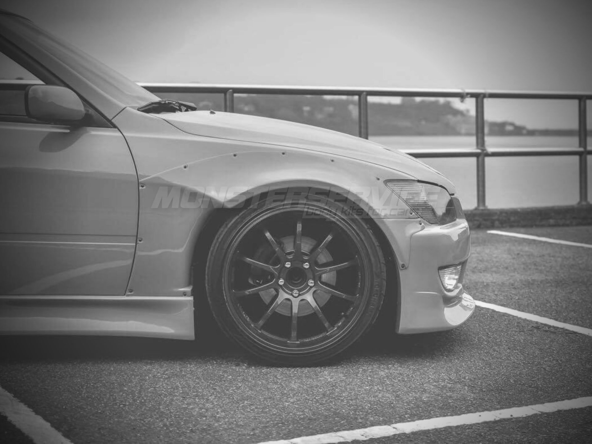"Front wings ""Stage 2"" +40mm Lexus IS300 for Lexus IS200 ..."