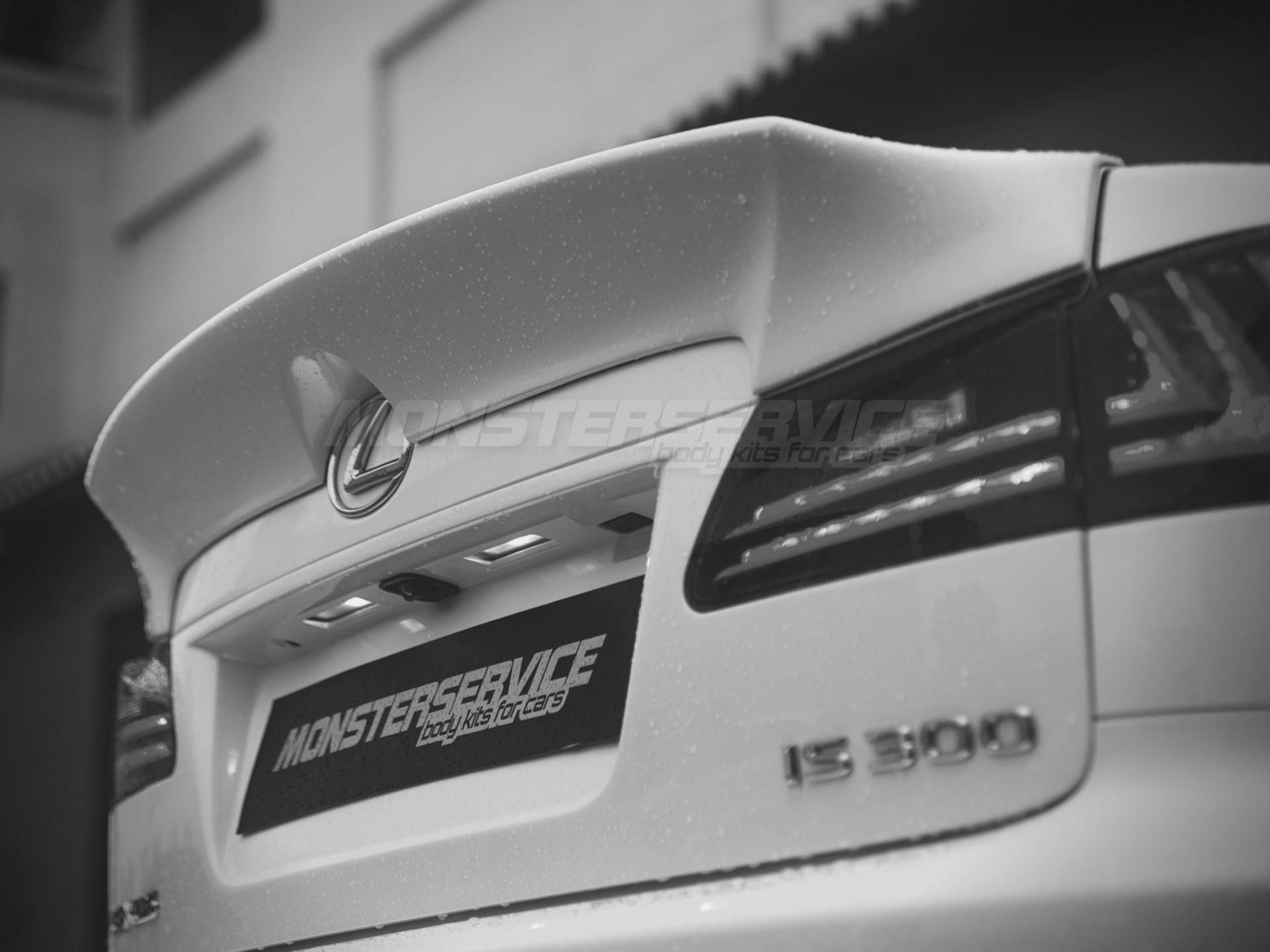 Trunk lip spoiler for Lexus IS 250